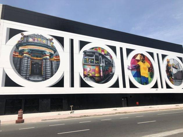 juicysantos.com.br - mural do Kobra em Santos