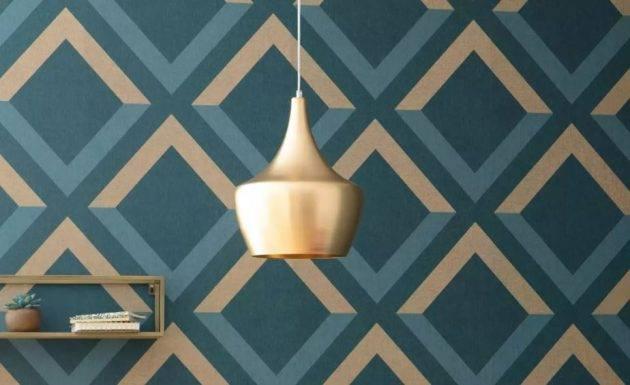 www.juicysantos.com.br - papel de parede dourado na decoração