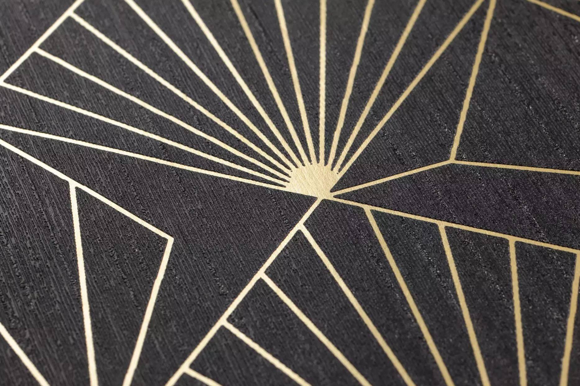 www.juicysantos.com.br - dourado na decoração com papel de parede